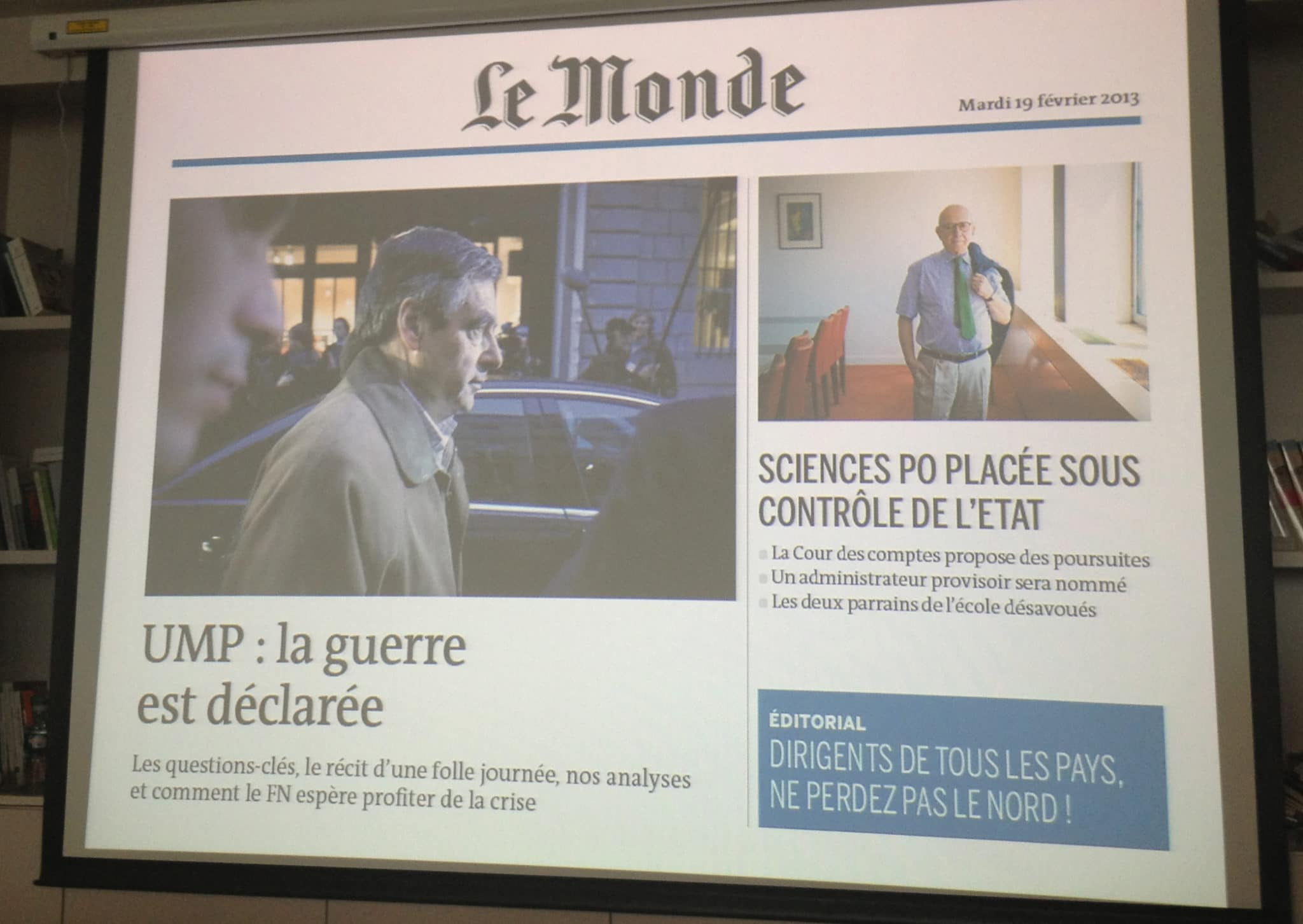 Le journal tactile enrichi @Le Monde